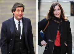 'going to santorini': carine patry hoskins and david sherborne in leveson earn 'n' tell